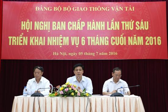 Đảng bộ Bộ GTVT triển khai nhiệm vụ 6 tháng cuối năm 2016
