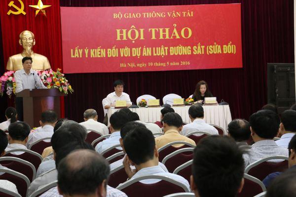 Bộ GTVT tổ chức Hội thảo lấy ý kiến góp ý về Dự thảo Luật đường sắt (sửa đổi)