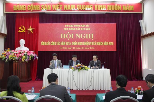 Cục Đường sắt Việt Nam tổ chức Hội nghị tổng kết công tác năm 2015 và triển khai nhiệm vụ kế hoạch năm 2016.