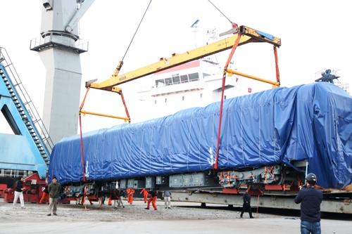 12 đoàn tàu Cát Linh - Hà Đông sẽ về cảng Hải Phòng
