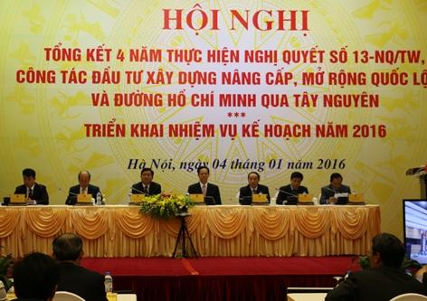 Thủ tướng Nguyễn Tấn Dũng dự và chỉ đạo Hội nghị Bộ GTVT triển khai nhiệm vụ năm 2016