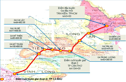 Phê duyệt Quy hoạch chi tiết đường sắt Thành phố Hồ Chí Minh - Cần Thơ