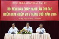 dang bo bo gtvt trien khai nhiem vu 6 thang cuoi nam 2016 - cuc duong sat viet nam vietnam railway authority